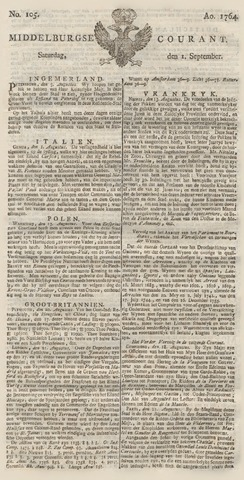 Middelburgsche Courant 1764-09-01