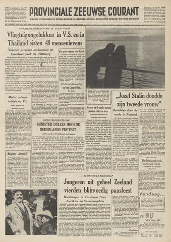 Provinciale Zeeuwse Courant 1956-04-03
