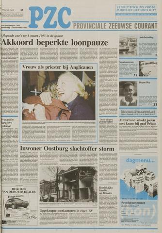 Provinciale Zeeuwse Courant 1992-11-12
