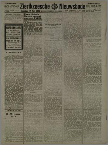 Zierikzeesche Nieuwsbode 1925-10-12