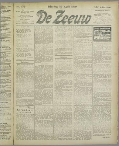 De Zeeuw. Christelijk-historisch nieuwsblad voor Zeeland 1919-04-29