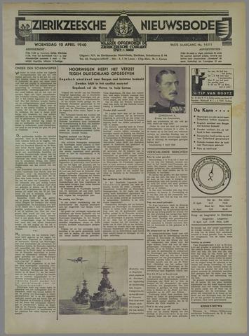 Zierikzeesche Nieuwsbode 1940-04-10