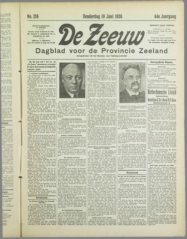 De Zeeuw. Christelijk-historisch nieuwsblad voor Zeeland 1930-06-19