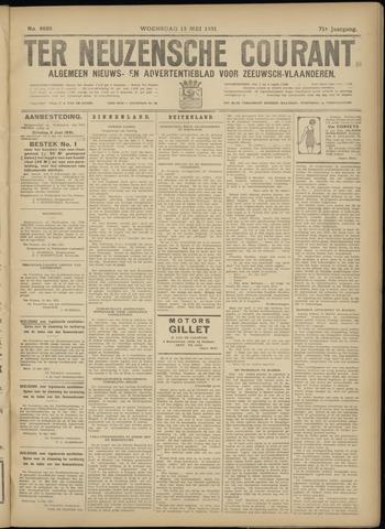 Ter Neuzensche Courant. Algemeen Nieuws- en Advertentieblad voor Zeeuwsch-Vlaanderen / Neuzensche Courant ... (idem) / (Algemeen) nieuws en advertentieblad voor Zeeuwsch-Vlaanderen 1931-05-13