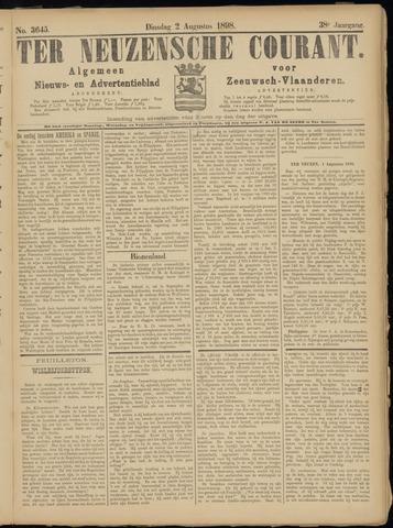 Ter Neuzensche Courant. Algemeen Nieuws- en Advertentieblad voor Zeeuwsch-Vlaanderen / Neuzensche Courant ... (idem) / (Algemeen) nieuws en advertentieblad voor Zeeuwsch-Vlaanderen 1898-08-02