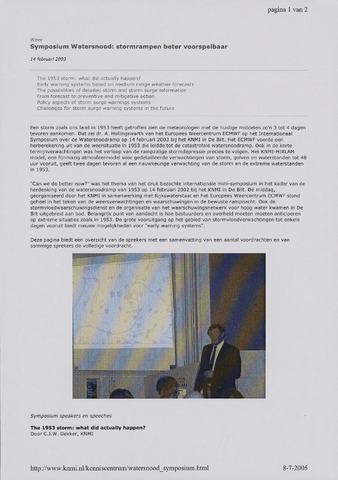 Watersnood documentatie 1953 - diversen 2003-02-14