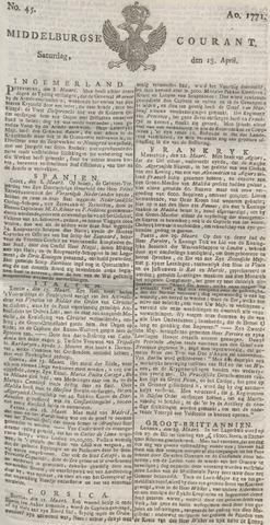 Middelburgsche Courant 1771-04-13