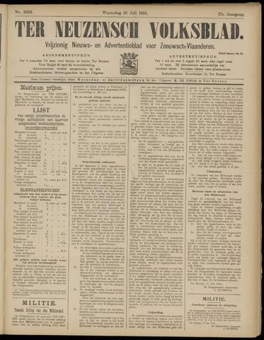Ter Neuzensch Volksblad. Vrijzinnig nieuws- en advertentieblad voor Zeeuwsch- Vlaanderen / Zeeuwsch Nieuwsblad. Nieuws- en advertentieblad voor Zeeland 1916-07-19