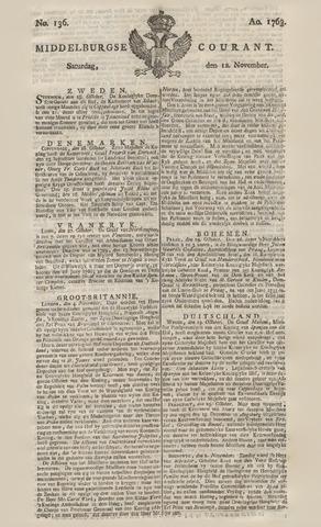 Middelburgsche Courant 1763-11-12