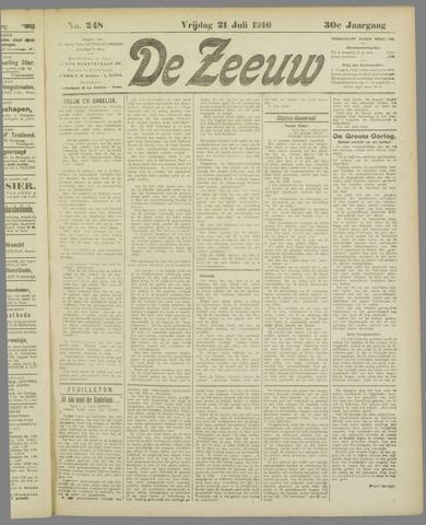 De Zeeuw. Christelijk-historisch nieuwsblad voor Zeeland 1916-07-21