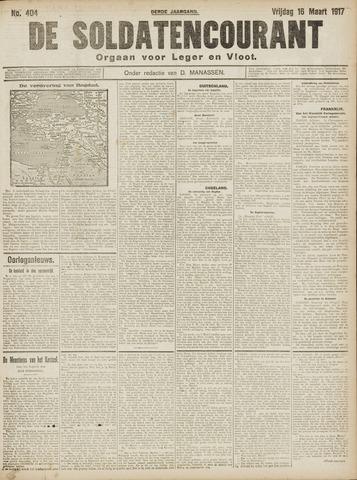 De Soldatencourant. Orgaan voor Leger en Vloot 1917-03-16
