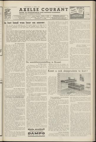 Axelsche Courant 1958-04-16