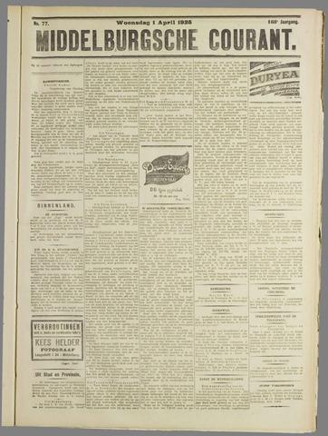 Middelburgsche Courant 1925-04-01