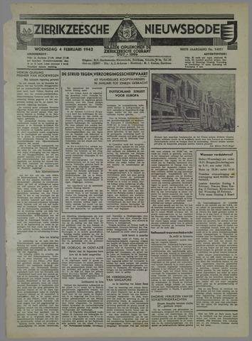 Zierikzeesche Nieuwsbode 1942-02-04