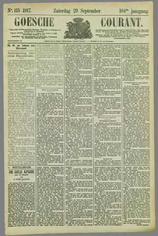Goessche Courant 1917-09-29