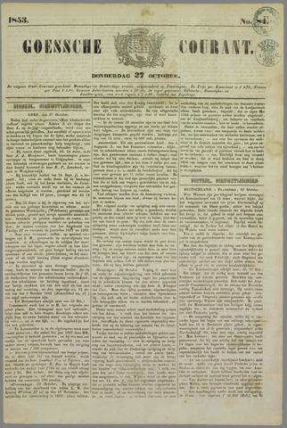 Goessche Courant 1853-10-27