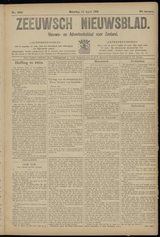 Ter Neuzensch Volksblad. Vrijzinnig nieuws- en advertentieblad voor Zeeuwsch- Vlaanderen / Zeeuwsch Nieuwsblad. Nieuws- en advertentieblad voor Zeeland 1919-04-12