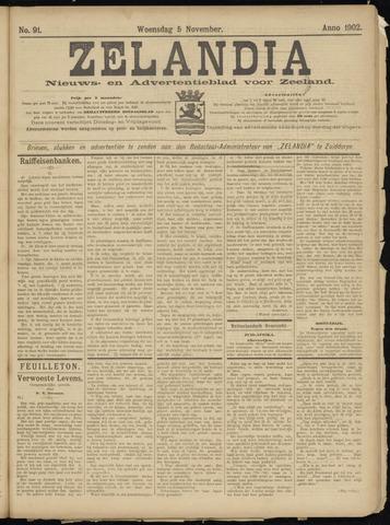 Zelandia. Nieuws-en advertentieblad voor Zeeland | edities: Het Land van Hulst en De Vier Ambachten 1902-11-05