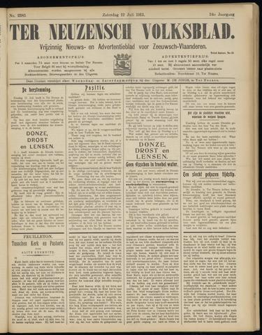 Ter Neuzensch Volksblad. Vrijzinnig nieuws- en advertentieblad voor Zeeuwsch- Vlaanderen / Zeeuwsch Nieuwsblad. Nieuws- en advertentieblad voor Zeeland 1913-07-12