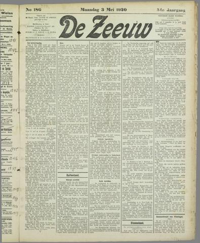 De Zeeuw. Christelijk-historisch nieuwsblad voor Zeeland 1920-05-03
