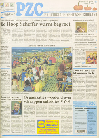 Provinciale Zeeuwse Courant 2003-09-23