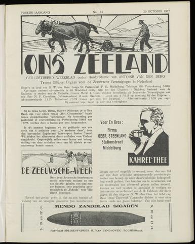 Ons Zeeland / Zeeuwsche editie 1927-10-29