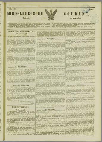 Middelburgsche Courant 1847-11-27