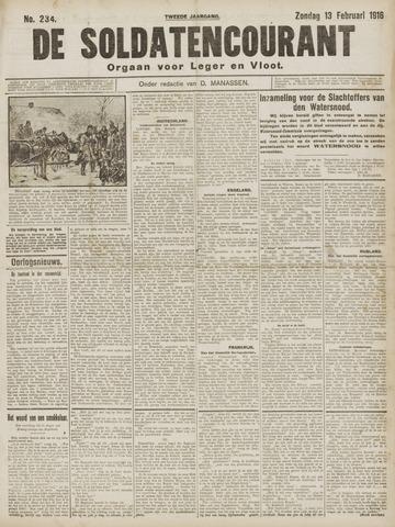 De Soldatencourant. Orgaan voor Leger en Vloot 1916-02-13