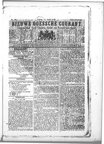 Nieuwe Goessche Courant 1876-04-14