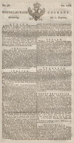 Middelburgsche Courant 1768-08-11