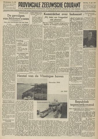 Provinciale Zeeuwse Courant 1947-07-12