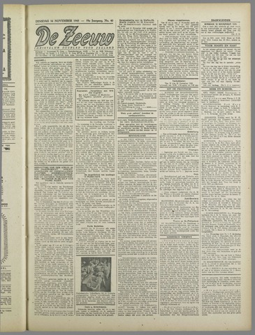 De Zeeuw. Christelijk-historisch nieuwsblad voor Zeeland 1943-11-16