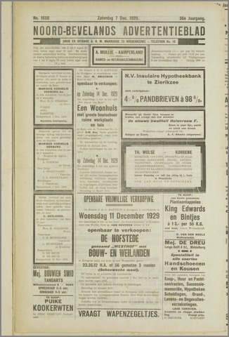 Noord-Bevelands Nieuws- en advertentieblad 1929-12-07