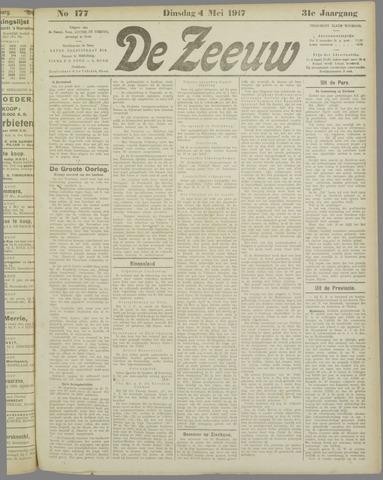 De Zeeuw. Christelijk-historisch nieuwsblad voor Zeeland 1917-05-01