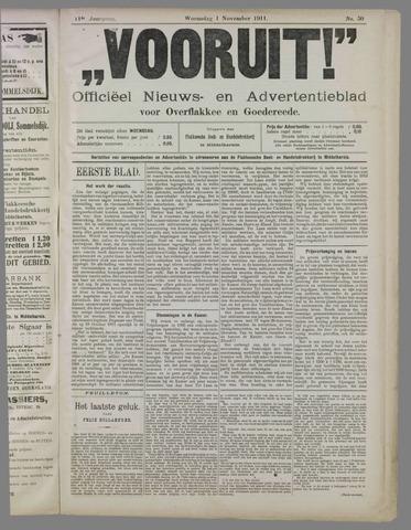 """""""Vooruit!""""Officieel Nieuws- en Advertentieblad voor Overflakkee en Goedereede 1911-11-01"""