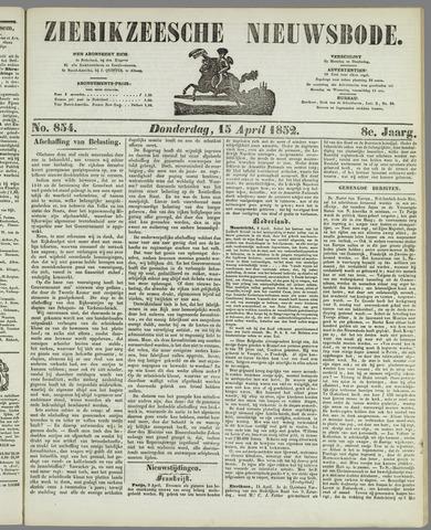 Zierikzeesche Nieuwsbode 1852-04-15