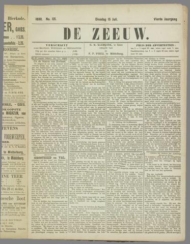 De Zeeuw. Christelijk-historisch nieuwsblad voor Zeeland 1890-07-15