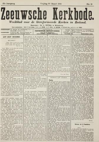 Zeeuwsche kerkbode, weekblad gewijd aan de belangen der gereformeerde kerken/ Zeeuwsch kerkblad 1923-03-30