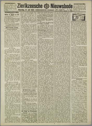 Zierikzeesche Nieuwsbode 1922-07-31