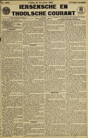 Ierseksche en Thoolsche Courant 1923-11-16