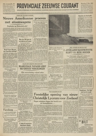 Provinciale Zeeuwse Courant 1952-11-17