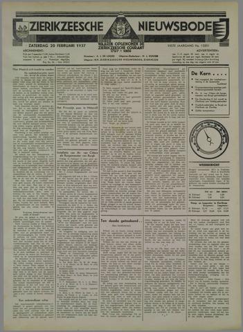 Zierikzeesche Nieuwsbode 1937-02-20