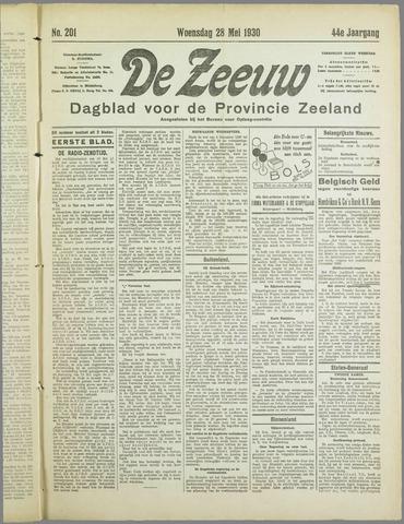 De Zeeuw. Christelijk-historisch nieuwsblad voor Zeeland 1930-05-28