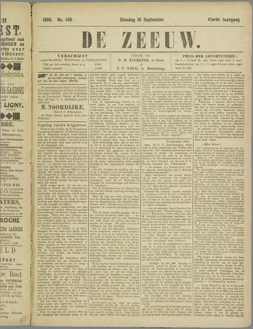 De Zeeuw. Christelijk-historisch nieuwsblad voor Zeeland 1890-09-16