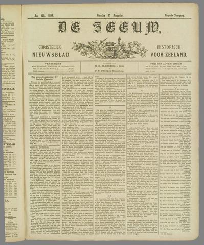 De Zeeuw. Christelijk-historisch nieuwsblad voor Zeeland 1895-08-27