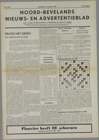 Noord-Bevelands Nieuws- en advertentieblad 1970-11-05
