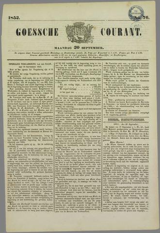 Goessche Courant 1852-09-20