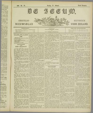 De Zeeuw. Christelijk-historisch nieuwsblad voor Zeeland 1896-02-25