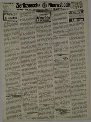 Zierikzeesche Nieuwsbode 1925-11-09