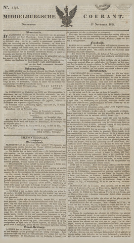 Middelburgsche Courant 1834-11-27